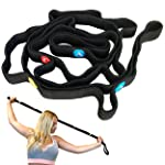 MDBuddy Stretch Strap with Loops to Increase Flexibility, Dynamic Stretching Tool for Athletes Including Dancers...