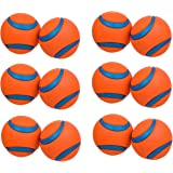 (6 Pack) ChuckIt Medium Ultra Balls 2.5-Inch (Each Pack Contains 2 Balls / 12 Balls Total)