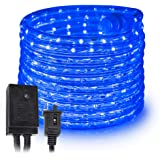 West Ivory 10' 25' 60' 150' ft (150' feet) Blue LED Rope Lights w/8 Mode Controller 2 Wire Accent Holiday Christmas Party Dec