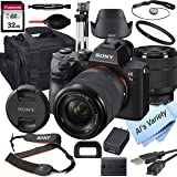Sony Alpha a7 III Mirrorless Digital Camera with 28-70mm Lens, 32GB Card, Tripod, Case, and More (18pc Bundle)
