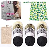 Malexa Nursing Pads 14 Pack - Organic Bamboo Reusable Breast Pads - Contoured Maternity Lace Pads - Washable, Super Absorbent