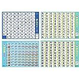 おふろポスター3種類セット ( 小学1年生漢字 2年生漢字 かけ算九九 ) 学習 教材