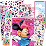 Disney Minnie Mouse Coloring Book and Stickers Gift Set - Bundle Includes Gigantic 192 pg Minnie Mouse Coloring Book, Minnie