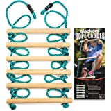 Slackers SLA.790 Ninja Rope Ladder 8' Climbing Ladder for Obstacle Sports and Outdoors, Blue
