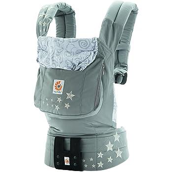 エルゴベビー(Ergobaby) 抱っこひも おんぶ可 [日本正規品保証付] (日本限定ベビーウエストベルト付) (洗濯機で洗える) 装着簡単 ベビーキャリア オリジナル/ギャラクシーグレー CREGBC2EPNL