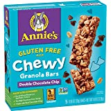 Annie's Gluten Free Granola Bars, Double Chocolate Chip (5 Count of 0.98 Oz Bars), 4.9 Oz, Pack of 12