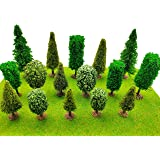 16 Pieces Model Trees with Base Bushes Trees Model Trees Train Scenery Architecture Trees Fake Trees for DIY Crafts, Building