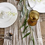 Gauze Table Runner Bulk Ivory Cheesecloth Table Cloth - Holiday Table Runner for Wedding - Rustic Table Runner 160 in - Boho