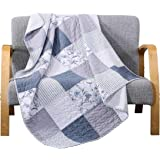 """SLPR Coastal Dream Cotton Real Patchwork Quilted Throw (50"""" x 60"""") 