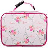 Bentology Lunch Box for Girls - Kids Insulated Lunchbox Tote Bag Fits Bento Boxes - Paris