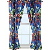 Marvel Avengers Curtain Window Curtain Set Avengers Blue