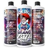GRAND MASTER SMOKE (32oz) Soak & Wash Biodegradable Formula - Bong Cleaner/Glass Pipe & Hookah Cleaner - Sanitize + Deodorize