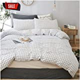 (Queen, Sjt006) - Elephant Soft Duvet Cover Set, Premium Microfiber, Grid Pattern On Comforter Cover-3pcs:1x Duvet Cover 2X P