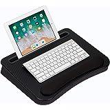 LapGear 91338 Smart-e Memory Foam Lap Desk, Black Carbon