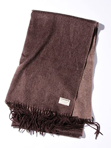 Cashmere Reversible Scarf 1436-699-1739: Brown