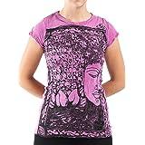 Sure Design Women's Sanskrit Buddha Crinkled Cotton T-Shirt