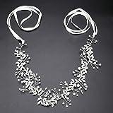 Lermity Handmade Crystal Rhinestones Headband Floral Headpiece Wedding Bridal Hair Accessories