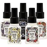 Poo-Pourri Set - Includes Original Citrus, Lavender Vanilla, Tropical Hibiscus, Ship Happens, and Royal Flush 1.4 Ounce Bottl