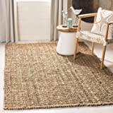 Natural Fiber Collection Hand Woven Natural Jute Area Rug Basketweave Natural Seagrass Rug for Home Décor (4 * 6 feet)