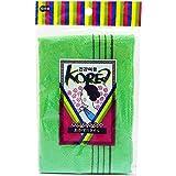オーエ KO (韓国式) あかすりタオル グリーン 約縦29×横90cm 体洗い タオル
