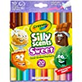 CRAYOLA 588339 Silly Scents Dual Ended Markers, Sweet Scented Markers, 10 Pack, Kids, Age 3, 4, 5, 6