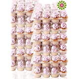 (12Pack x 12 Sets) STACK'nGO Cupcake Carriers - High Tall Dome Clear Containers Thick Plastic Disposable Storage Boxes. 1 Doz