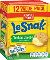 Uncle Tobys Le Snak Cheddar Cheese, 1 box of 12-pack, 264g