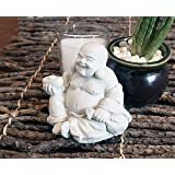 Stone Monkey   Zen Stone Statue   Buddha Laughing Budai Monk Figurine (Laughing Buddha)