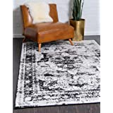 Unique Loom Sofia Traditional Area Rug, 5' 0 x 8' 0, Black