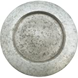 """SARO LIFESTYLE Sousplat Collection Galvanized Finish Distressed Metal Charger Plate 13"""" Silver (Pack of 4)"""