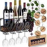 Wine Bottle Holder Cork Storage (Brown) Store Red, White, Champagne with Cork Wine Charms Home & Kitchen Decor Heavy-Duty Sto