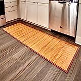 InterDesign Bamboo Floor Runner, 24-Inch by 72-Inch, Natural