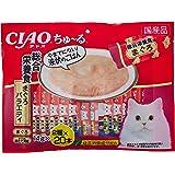 チャオ (CIAO) 猫用おやつ ちゅ~る40本入り 総合栄養食 まぐろバラエティ 14g×40本