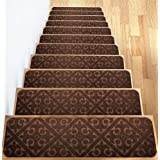 Elogio Carpet Stair Treads Set of 13 Non Slip/Skid Rubber Runner Mats or Rug Tread - Indoor Outdoor Pet Dog Stair Treads Pads