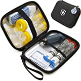 Casematix 8 Inch Insulated Asthma Inhaler Medicine Travel Bag Case for Children and Adults, Fits Inhaler Spacer, Masks, and M
