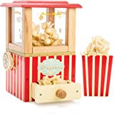 Le Toy Van - Wooden Honeybake Retro Popcorn Machine | Cinema, Kitchen Or Movies Pretend Play | Movie Night Role Kids Play Toy
