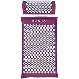 Kanjo Premium Acupressure Mat & Acupressure Pillow Set   High Density Memory Foam Core   100% Organic Cotton Cover   Relieves
