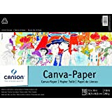 "Canson Foundation Series Canva-Paper Pad Primed for Oil or Acrylic Paints, White, 12"" x 16"""