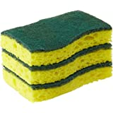 Scotch-Brite Heavy Duty Scrub Sponge, Yellow, Pack of 3 (420-3pc)