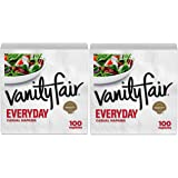 Vanity Fair Everyday 2-Ply Napkins White 100 Count (2 Pack)