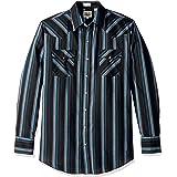 Ely & Walker Mens 15A3703-BLT Long Sleeve Stripe Western Shirt - Tall Stripes Long Sleeve Button-Down Shirt