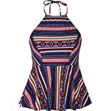 Hilor Women's One Piece Swimsuit UPF 50+ Sports Training Athetic Splice Racing Bathing Suit