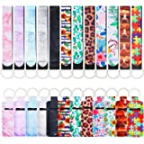 24 Pieces Chapstick Keychain Holders Set with Wristlet Lanyards, Lipstick Holder Sleeve Pouch Lip Balm Holder for Chapstick (
