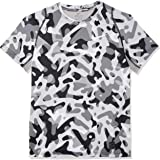 Nike Kids Pro AOP Fitted Short-Sleeve Top, Atmosphere Grey/white, XL