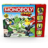 Monopoly Junior - My First Monopoly Game - 2 to 4 Players - Board Games & Toys for kids, boys, girls - Ages 5+