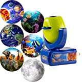 Projectables 13347 Six Image LED Plug-In Night Light, Green and Blue, Light Sensing, Auto On/Off, Projects Solar System, Eart