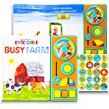 World of Eric Carle Books Collection for Toddlers Bundle ~ Busy Farm Interactive Eric Carle Board Book with Dr. Seuss Sticker