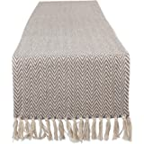 "DII CAMZ11269 Braided Cotton Table Runner, Perfect for Spring, Fall Holidays, Parties and Everyday Use 15x72"" Gray"