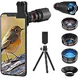 4in1 スマホ用カメラレンズ 進化版HD22倍望遠レンズ付きスマホレンズ㍜セット スマトフォン用カメラレンズ トリプルレンズキット 0.62倍広角 25倍マイクロレンズ 235°魚眼 ミニ三脚 収納バック付き iphone XR 11 X XSma