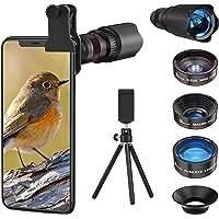 7 in1 スマホ用カメラレンズ HD22倍望遠レンズ付き スマホレンズ㍜セット スマトフォン用カメラレンズ トリプルレ…